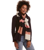 Odd Molly - wolly blocks scarf - RED SKY