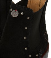 Odd Molly - mollyhood low suede boot - ALMOST BLACK