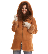 rhythm shearling hood jacket