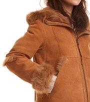 Odd Molly - rhythm shearling hood jacket - DESERT