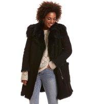 Odd Molly - rhythm shearling coat - ALMOST BLACK