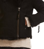 Odd Molly - rhythm shearling jacket - ALMOST BLACK