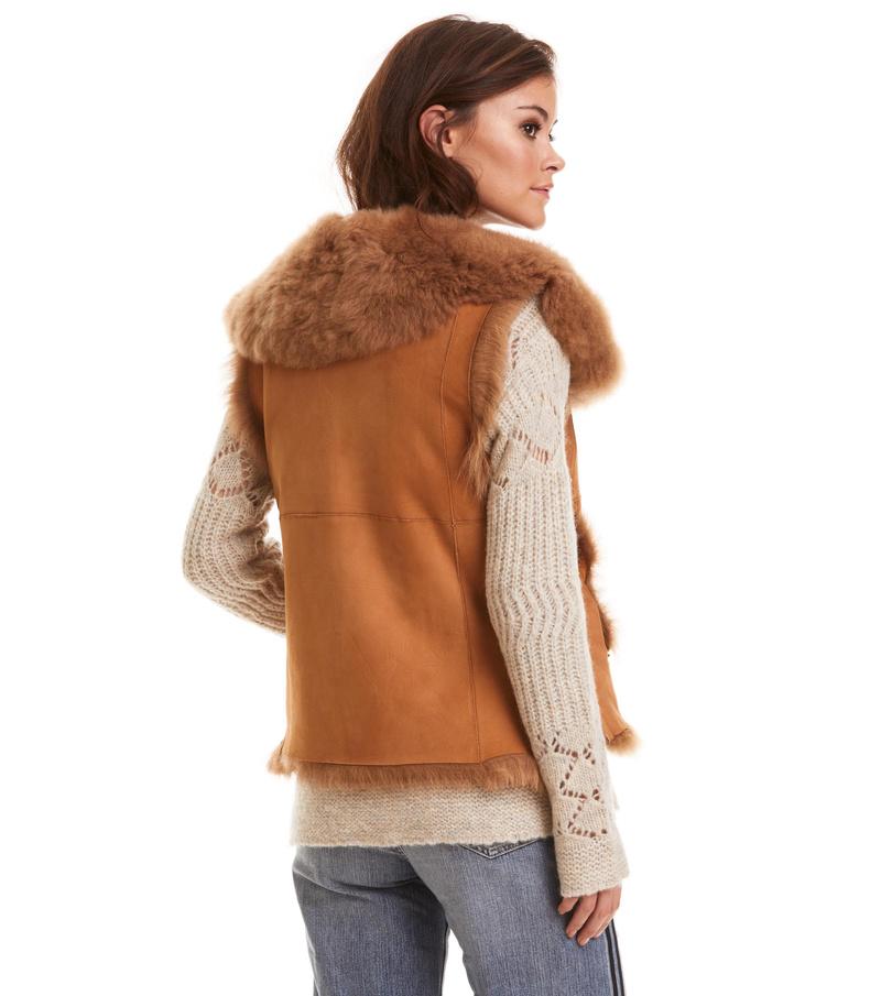 rhythm shearling vest