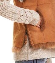 Odd Molly - rhythm shearling vest - DESERT