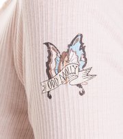 Odd Molly - rib jersey l/s top - SOFT ROSE