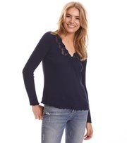 Odd Molly - rib-eye top - DARK BLUE