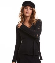 Odd Molly - mrs charming cardigan - BLACK