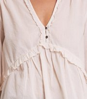 Odd Molly - full frill blouse - MISTY WHITE
