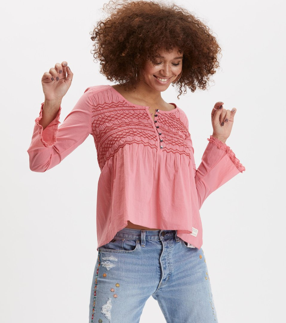 bf1c241ab4554 Odd Molly - fring swing blouse - BLUSH PINK