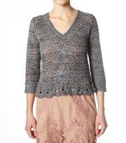 Odd Molly - gilded multi sweater - GREY MELANGE
