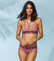 Odd Molly - garden halterneck bikini top - APRICOT TAN