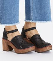 Odd Molly - wild at heart clogs - ALMOST BLACK