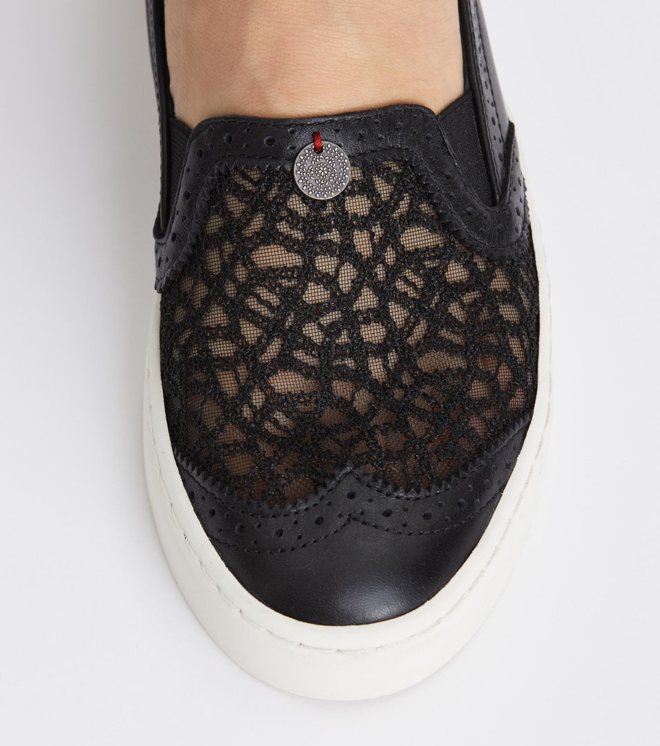 Odd Molly - perfect punch slip-in sneaker - BLACK