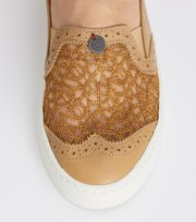 Odd Molly - perfect punch slip-in sneaker - LIGHT CHAMPAGNE