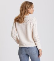 Odd Molly - symmetry moves zip cardigan - PINK PORCELAIN