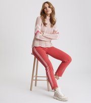 Odd Molly - soul stripes sweater - PINK SAND