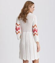 Odd Molly - soul stripes dress - LIGHT CHALK