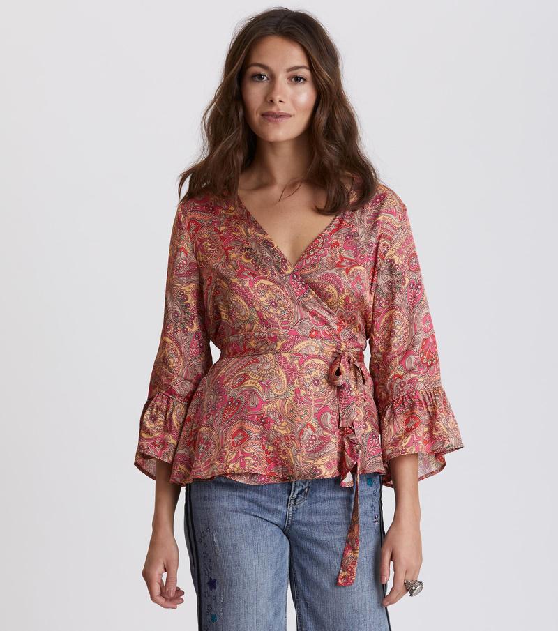 deep groove garden blouse