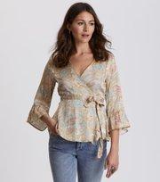 Odd Molly - deep groove garden blouse - PEACH BLOSSOM