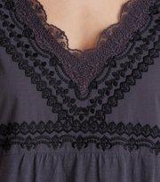 Odd Molly - lace vibration blouse - ASPHALT