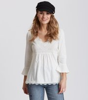 Odd Molly - lace vibration blouse - LIGHT CHALK
