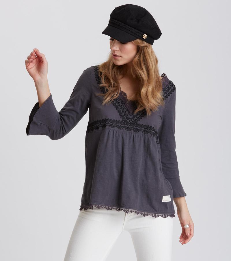 lace vibration blouse