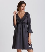 Odd Molly - lace vibration dress - ASPHALT