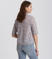 Odd Molly - sway high blouse - MID GREY