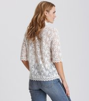 Odd Molly - sway high blouse - LIGHT CHALK