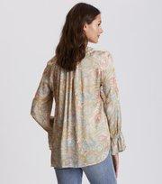 Odd Molly - deep groove garden l/s blouse - PEACH BLOSSOM
