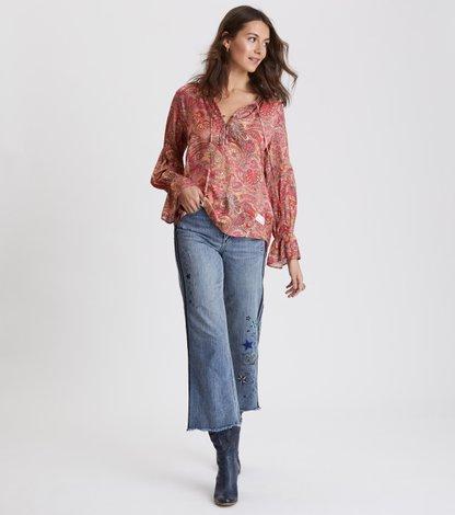 deep groove garden l/s blouse