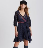 Odd Molly - two-step flow dress - DARK BLUE