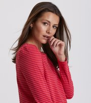 Odd Molly - miss stripes top - HOT PINK