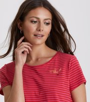Odd Molly - Miss Stripes T-Shirt - HOT PINK