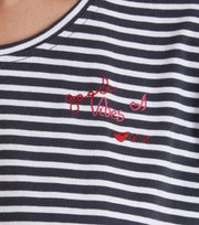 Odd Molly - miss stripes tee - ASPHALT