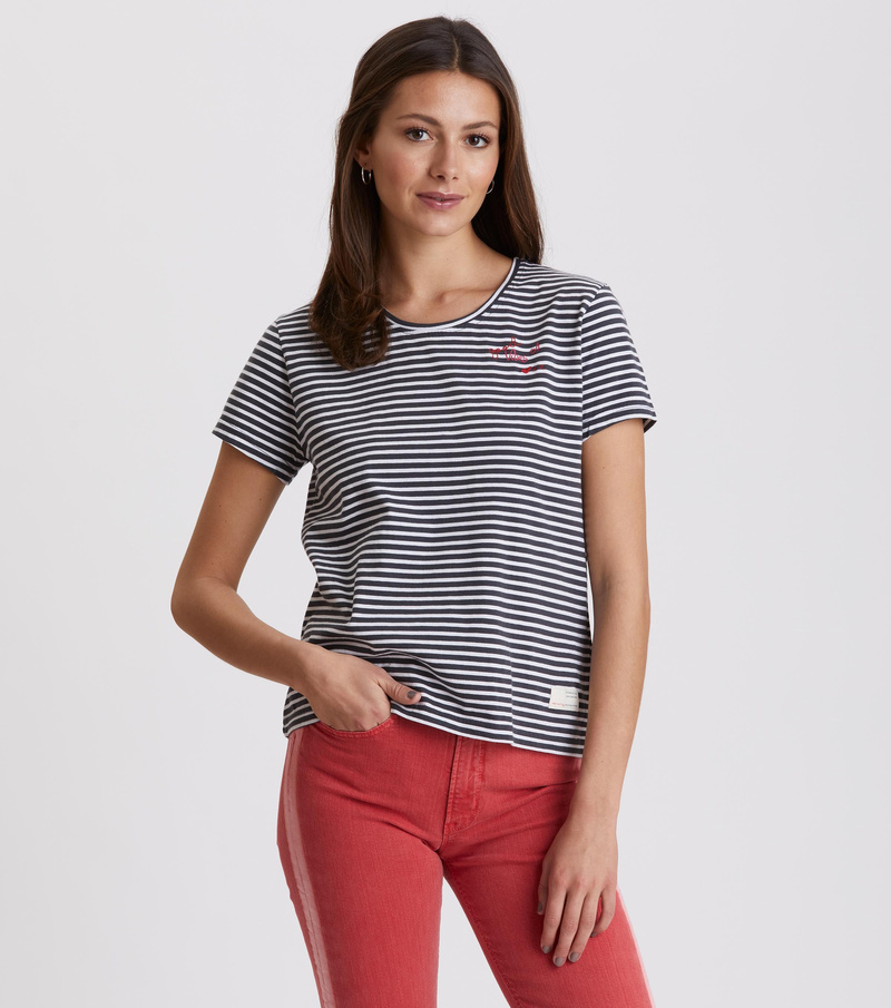 miss stripes tee