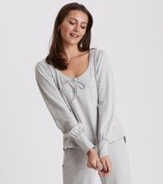 Odd Molly - lazy sundays sweater - LIGHT GREY MELANGE