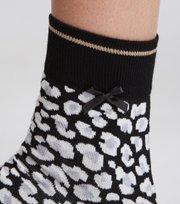 Odd Molly - socky sock - BLACK LEOPARD