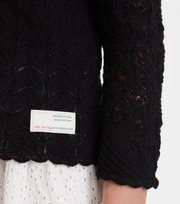 Odd Molly  - prancing flower cardigan - ALMOST BLACK