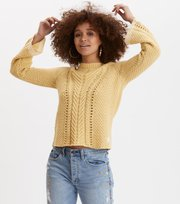 Odd Molly - glory days knit sweater - GOLDEN BISCOTTI