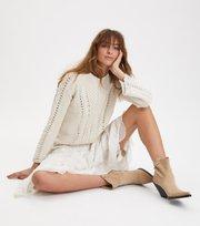 Odd Molly - glory days knit sweater - LIGHT PORCELAIN