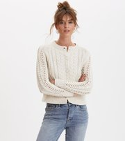 Odd Molly - glory days knit cardigan - LIGHT PORCELAIN