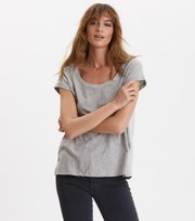 Odd Molly - encore tee - LIGHT GREY MELANGE