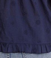 Odd Molly - facile flower top - DARK BLUE
