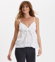 Odd Molly - facile flower top - BRIGHT WHITE