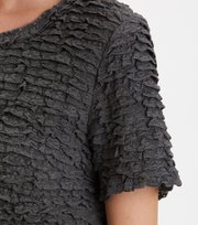 Odd Molly - frill princess blouse - ASPHALT