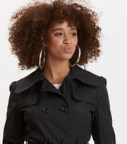 Odd Molly - the scoop coat - ALMOST BLACK