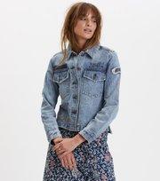 Odd Molly - peace player denim jacket - VAALEANSININEN