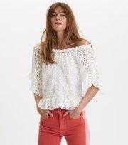 Odd Molly  - wing vibes blouse - LIGHT CHALK