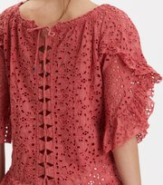 Odd Molly - wing vibes blouse - DUSTED ROUGE